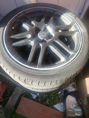 Scion tc OEM wheels good tires. Hablo español for Sale in Pittsburg, CA