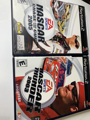 NASCAR PlayStation 2 Ps2 game racing 2003 2005 thunder and race for the cup for Sale in King of Prussia, PA