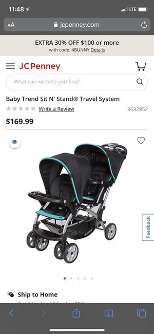 Sit N' Stand Double Stroller for Sale in Inglewood, CA