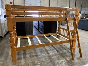 Wooden Twin / Twin Convertible Bunk Bed for Sale in Columbus, OH