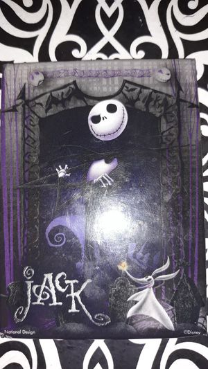 The Nightmare Before Christmas Jack Skellington and Zero magnet for Sale in Winston-Salem, NC