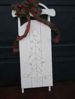 """35"""" Tall Metal & Wood Sled Christmas Decor for Sale in Riverside,  CA"""