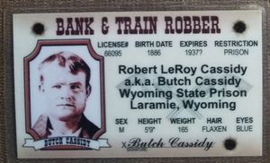 Butch Cassidy souvenir novelty card for Sale in Three Rivers, MI