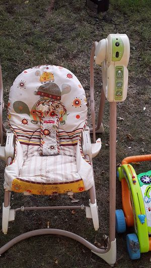 Have the car seats miscellaneous toys infant electric power swing playpen for that playpen with carrying case $25 draw excellent condition for Sale in Wichita, KS