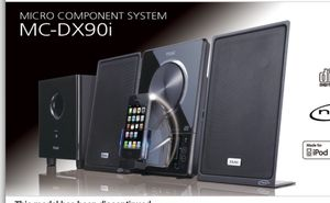 Teac thin shelf or wall stereo system with ipod dock for Sale in Modesto, CA