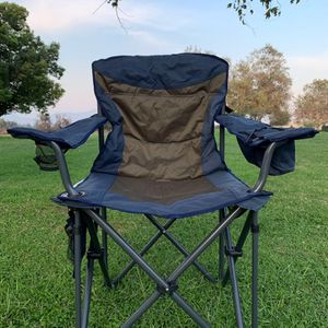 🔥Black Friday Deal 🔥 Brand new!Heavy-Duty Portable Camping Chair, Collapsible Padded Arm Chair with Cup Holders and Lower Mesh Side Pocket🌟 for Sale in El Monte, CA