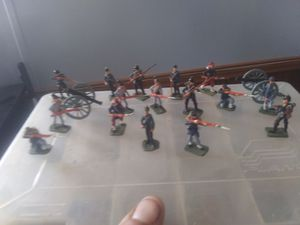 Lead hand painted civil war figures antique for Sale in Chambersburg, PA