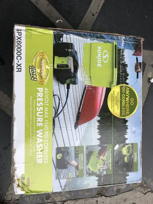 Sun Joe SPX6000C-XR iON Cordless Pressure Washer | 1160 PSI | 40V | 5.0 Ah for Sale in North Bergen, NJ