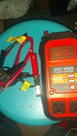 Black and Decker power inverter for Sale in San Antonio, TX