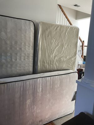 2 twin mattress and 1 box spring for Sale in Germantown, MD