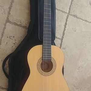Small guitar with bag And Tamborine for Sale in San Diego, CA
