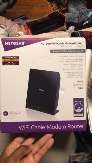 Netgear AC1600 WiFi Cable Modem Router for Sale in Bronx, NY