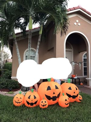Hollowin inflatable pumpkin set + 60ft extension cord for Sale in Weston, FL