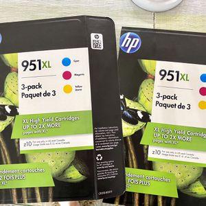 HP 951 XL 3 Pack Color Ink Cartridges for Sale in Virginia Beach, VA