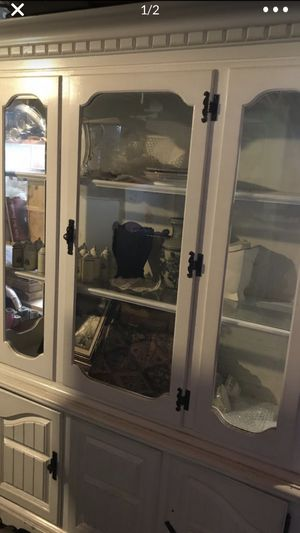 Antique white china cabinet .. PRICE REDUCTION for Sale in Renton, WA