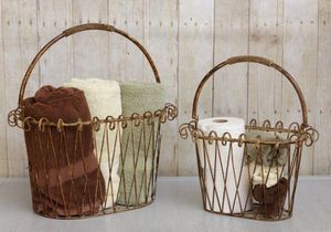 New Decorative Ornate Metal Farm Baskets for Sale in Vienna, MO