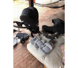 Stokke Xplory limited edition all black stroller and travel set for Sale in Rancho Santa Fe, CA