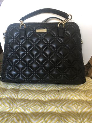 New Kate Spade Woman black leather quilted handbag for Sale in Queens, NY