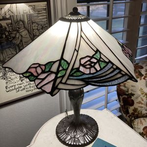 Stained Glass Lamp w/ Metal Base! Very Pretty! for Sale in Houston, TX