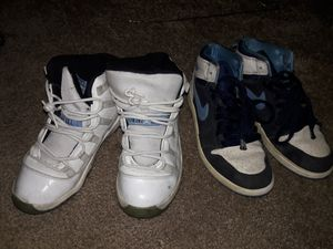 Retro blue 11 and nike shoes size 3 for Sale in Pittsburgh, PA