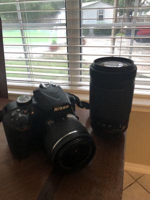 Nikon - D3400 DSLR Camera with AF-P DX 18-55mm G VR and 70-300mm G ED Lenses - Black for Sale in Round Rock, TX