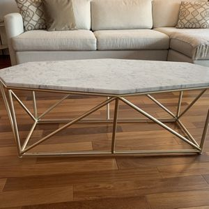 Anthropologie Marble + Brass Coffee Table for Sale in Secaucus, NJ