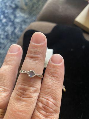 Amethyst diamond 10k gold ring for Sale in Westport, WA