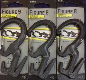 3-PACK Nite Ize Figure 9 Carabiner Aluminum Rope Tightener 3-9mm, No Knot System for Sale in Cañon City, CO