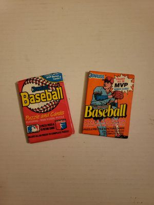 1988 & 1990 unopened wax pack (baseball cards) for Sale in Columbus, OH