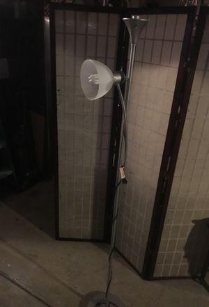 Silver Double Floor Stand-up Floor Lamp for Sale in Riverside, CA