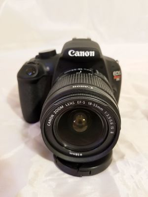 Canon Rebel T5 Camera Body , 2 lenses, Some Filters, Battery and Battery Charger and a flash for Sale in Glendale, CA