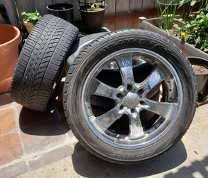 6 lug Eagle alloy chrome rims & tires p275/45 r20 106h for Sale in San Diego, CA
