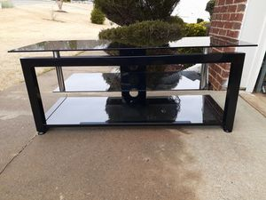 3 tier black metal glass TV stand for Sale in Buford, GA