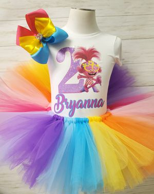 trolls tutu custom for Sale in Glendale, AZ