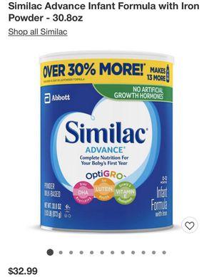 Similac Advance 30.8oz for Sale in Philadelphia, PA
