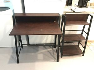 Desk & shelf set for Sale in Bethlehem, PA