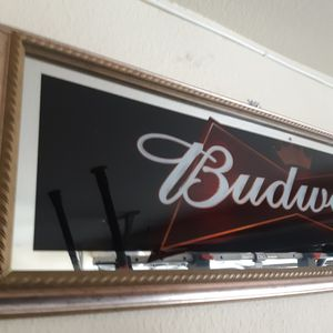 Budweiser Panoramic Wall Mirror for Sale in West Puente Valley, CA