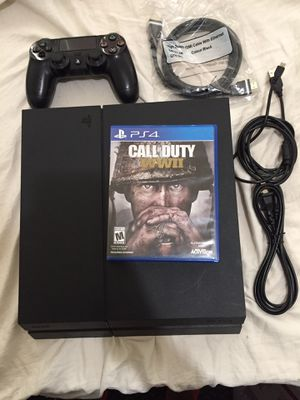 Ps4 500gb with game WW2 for Sale in Millbrae, CA