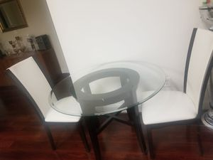 Round Glass Table with Chairs for Sale in Boyds, MD