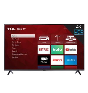 """TCL """"55"""" inch Smart tv with Roku remote for Sale in Graham, WA"""