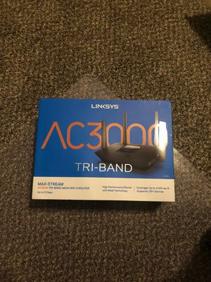 Linksys AC3000 tri-band mesh wifi5 router for Sale in Westmont, IL
