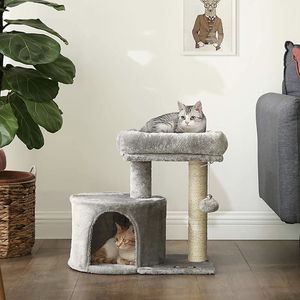 Feandrea Cat Tree With Sisal-Covered Scratching Posts For Kitten (Light Gray Color) for Sale in Spring, TX