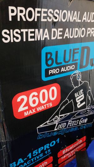 Pro audio blue DJ 2600 wtss.selfpowered for Sale in San Diego, CA