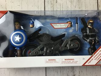Marvel Toy Box Captain America Motorcycle Set for Sale in Pompano Beach,  FL