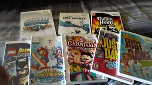 All these Wii games for Sale in Ontario, CA