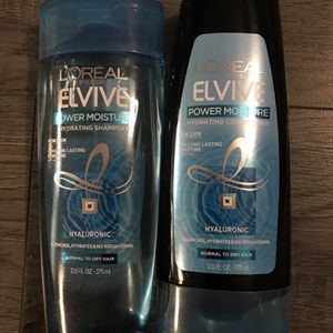 L'ORÉAL elvive power moisture shampoo and conditioner set for Sale in San Bernardino, CA