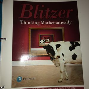 Blitzer Thinking Mathematically 7th Edition for Sale in Miami, FL