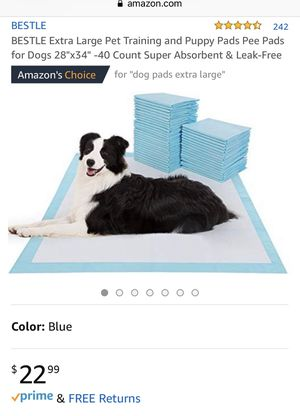 Brand New Puppy Pee Pads 40 count for Sale in Downey, CA
