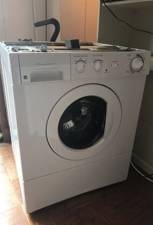 Stackable Frigidaire duty washer and Frigidaire gas gallery heavy duty dryer for Sale in Alexandria, VA