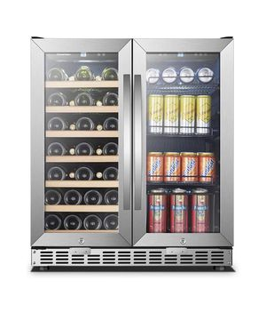 Sinoartizan Wine and Drink Fridge, 70 cans and 33 bottle capacity (mini fridge/drink fridge) for Sale in Tacoma, WA